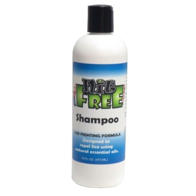 Nit Free Shampoo, cleans and detangles hair.